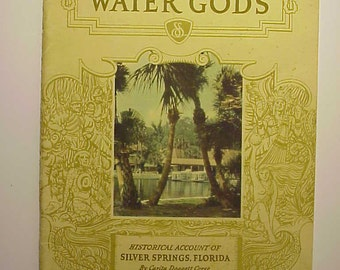 c1930s Shrine of the Water Gods By Carita Doggett Corse, Silver Springs, Florida Travel Booklet