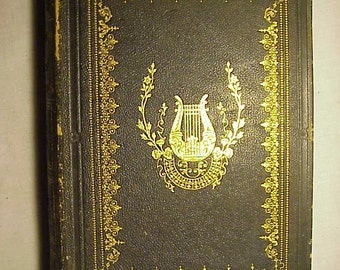 1850 A Complete Dictionary of Poetical Quotations Edited By Sarah Josepha Hale illustrated with Engravings , Antique Poetical Poetry Book