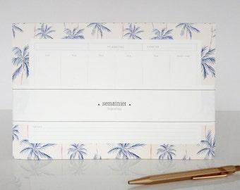 """1 weekly deskpad """"Palmeraie"""" - 1 semainier """"Palmeraie"""""""