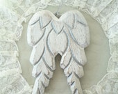 White angel wings wall decor wall hanging angel wings angel wings ornament white wings door hanger French Nordic style