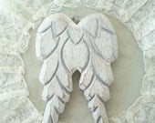 White angel wings, wall decor, wall hanging, angel wings, angel wings ornament, white wings, door hanger, French Nordic style,