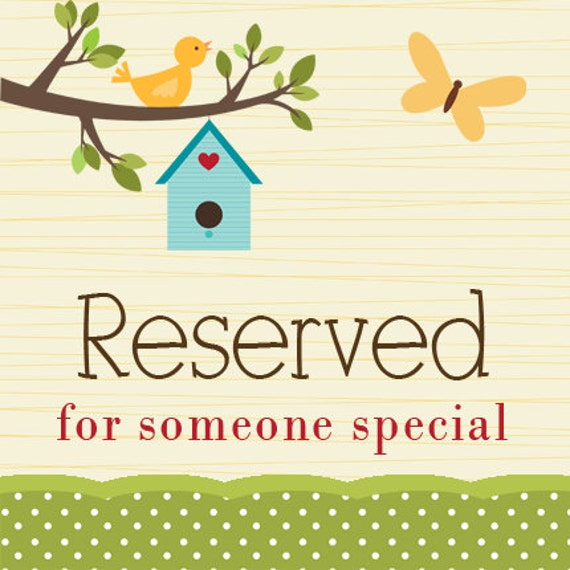 Reserved for Linda