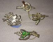 Bavarian Hat Pin Collection, Alpine, Berchtesgaden, German, Austrian, Men's Hat, Brooch, Stocking Stuffer