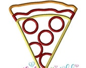 60% SALE Pepperoni Pizza Slice Applique Embroidery Design Instant download 4 hoop sizes