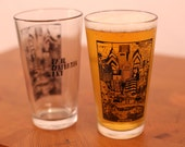 Philadelphia Philly Skyline Glassware -- Paul Carpenter Art -- Beer Pint Glass