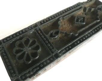 Hand carved print block - antique wood print block - Indian print block - wooden printing block - Indian printing block