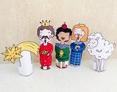 Nativity Christmas Finger Puppets Vol.2  Magi Comet and Sheep
