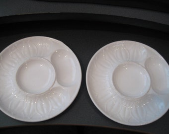 Vintage Glazed Ceramic Artichoke Plates, Set of Two