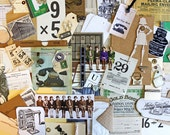 Junk Journal Supplies*Vintage Office Inspiration Kit* Paper Office Ephemera Pack