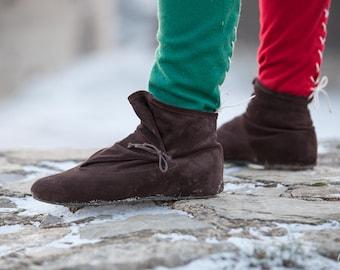 UNISEX Leather Boots; medieval shoes; womens shoes; ren shoes