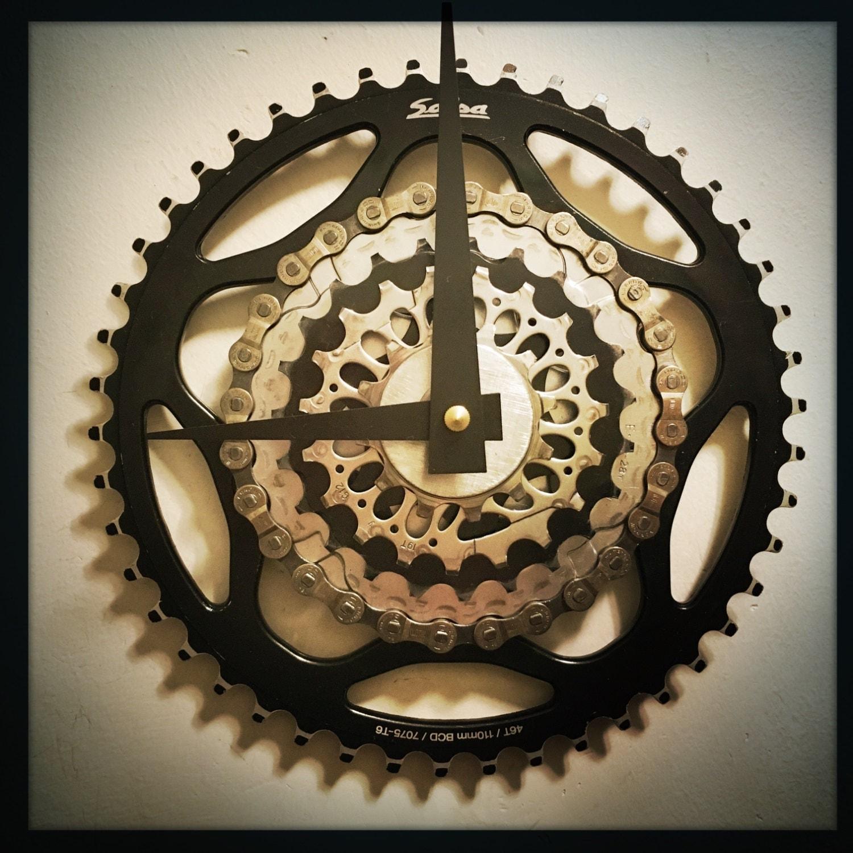 Bike Gear Wall Clock Steampunk Decor Cycling Gift For Men
