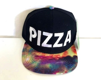 Pizza Galaxy Snapback Cosmic Stars Colors Multicolor Snap Back