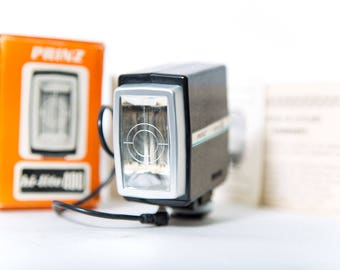 Prinz Hi-lite 400 Flash Vintage Photography 1970s Lighting Original Box and Paperwork