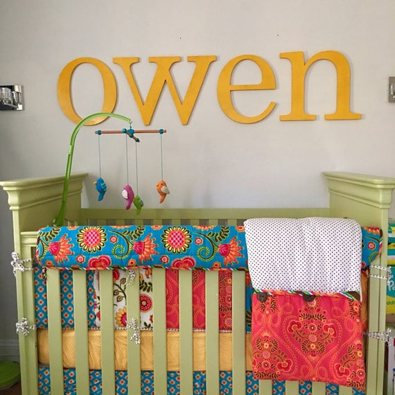 16 baby nursery letters wooden letters wall decor baby room decor