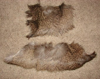 Two Mule Deer Fur Scraps Pieces, fur for fly tying, deer hide scrap, real fur pieces, animal hide fur, crafting animal fur, real animal fur