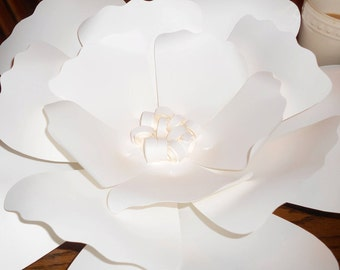 Giant White Paper Flower