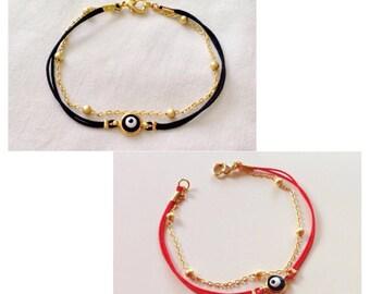 String Evil Eye Bracelet, Red String Evil Eye Bead Bracelet, Evil Eye Jewelry, Cute Bracelet,   Lucky Charm, Turkish Evil Eye, Amulet Charm