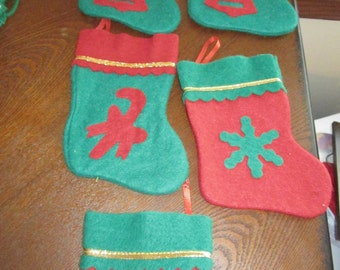 Mini Holiday Stockings  (set of 5)