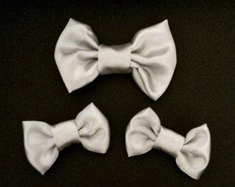 Satin Silver: 1 Big Bow or 2 Small Bows