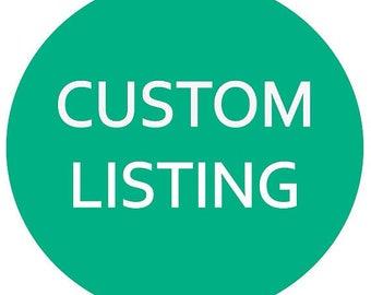 Custom earring order for Virginia