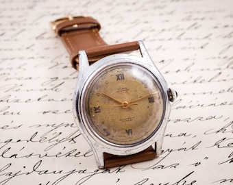 olma watch olma watch mens watch watches for men men s watches swiss made watch wind up mens watch wind up watch retro mens watch mens leather watch