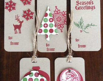 Christmas, Tags, Gift tags, Handmade, stampin up