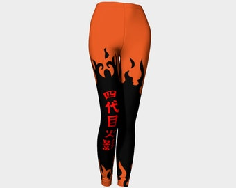 Hokage custom printed ladies leggings- Hokage leggings available in Leggings XS, Small, Medium, Large and XL