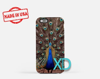 Peacock iPhone Case, Bird iPhone Case, Peacock iPhone 8 Case, iPhone 6s Case, iPhone 7 Case, Phone Case, iPhone X Case, SE Case Protective