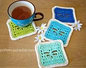 Crochet Pattern Dragonfly Coasters PDF 17-303
