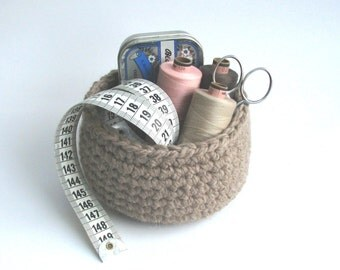 Crochet Storage Basket Organizer