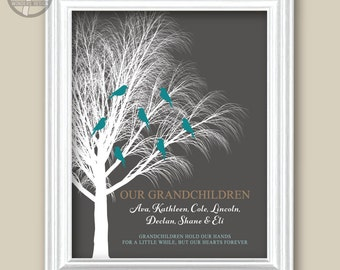 Personalized GRANDPARENTS Gift, Our Grandchildren, Christmas Gift 8x10 or 11x14, Birthday Anniversary Gift from Grandkids Guide UNFRAMED