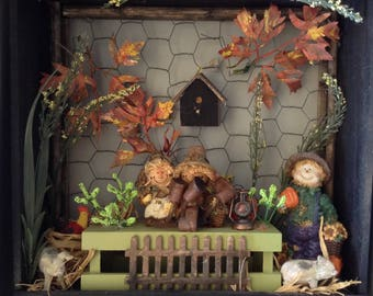 Miniature Fall Frolic Shadow Box