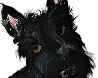 Scottie Dog Art Print Scottish Terrier #426