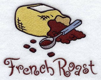 French Roast Embroidered on Made-to-Order Pillow Cover