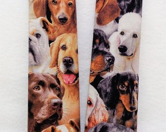 2 Dogs Design Car Seat Belt Covers - Car Strap Covers - Car Accessories - Seat Belt Pads -  Dog Fanatic - Dog Lover Gift - Dog Present