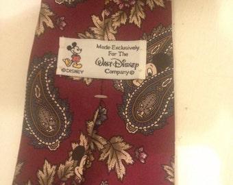 Vintage Mickey Mouse Disney Tie| Walt Disney Mickey Necktie | Vintage Silk Tie