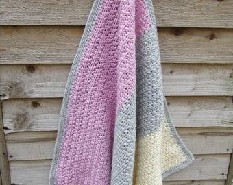 Baby blanket, crochet blanket, crochet baby blanket, textured blanket, nursery blanket