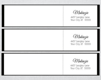 Black Border Wrap Around Address Label