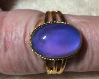 Mood Ring Adjustable Gold Mood Ring Free Shipping