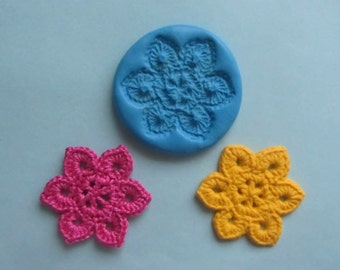 Crochet flower style 1 silicone mould