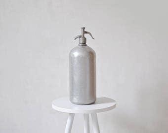 Vintage aluminum seltzer bottle