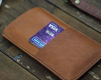 Tan Leather iPhone 6/6s Sleeve