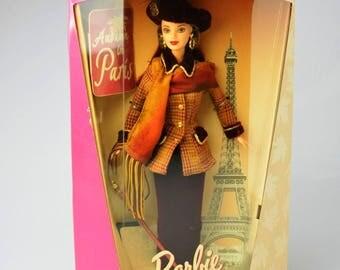 Vintage Barbie Doll City Seasons Series Collectible Autumn in Paris Barbie Fashion Doll 1997