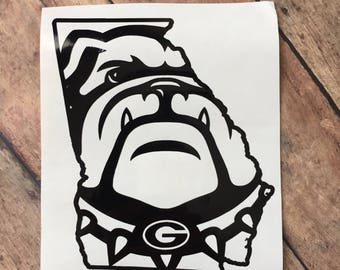 GA Bulldogs vinyl decal