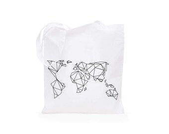 Tote Bag Geometric Earth