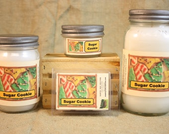Sugar Cookie Scented Candle, Sugar Cookie Scented Wax Tarts, 26 oz, 12 oz, 4 oz Jar Candles or 3.5 Clam Shell Wax Melts