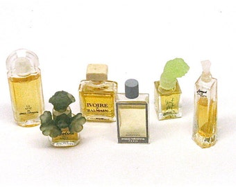 Vintage French Perfumes, Les Meilleurs Parfums de Paris, Miniature Bottles, Sample Set, Monte-Carlo, Monaco, 1960