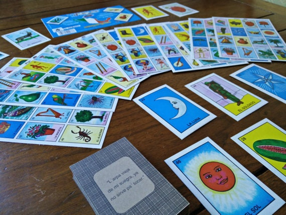 54 Loteria Cards 10 Game Boards Diy Day Of The Dead Halloween