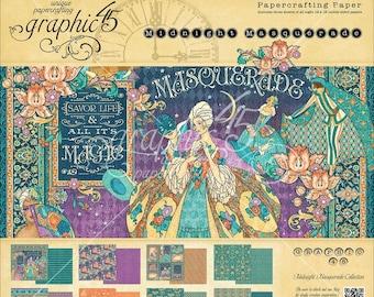 Graphic 45 12x12 Paper Pad - Midnight Masquerade