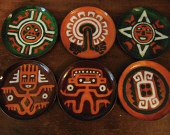 Copper & Enamel Coasters By Delong Originals